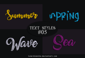 Text Styles #05 by lune-blanche