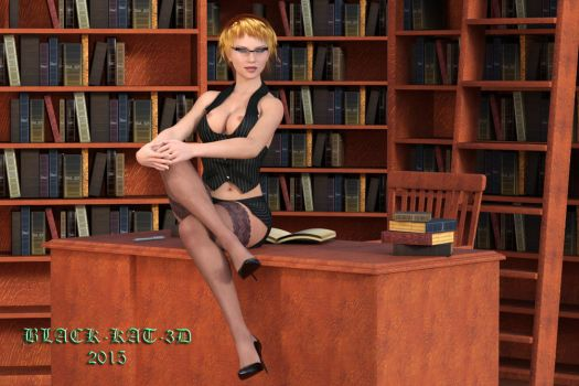 Librarian of the month by black-kat-3d