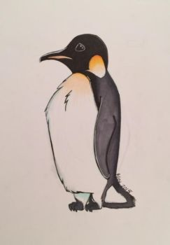 Penguin by Paintingthemoons