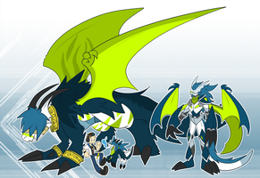 [Digimon] The Blue Dragon [pt 2] by glitchgoat