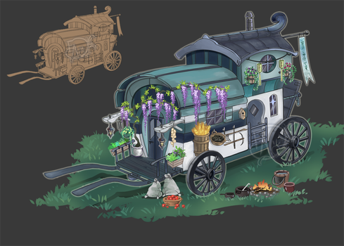 Home Adopt #1: Travel Wagon CLOSED by Forged-Artifacts