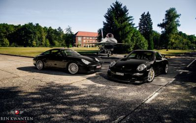 Porsche 996 4S, 997 GT3 and F16 by bekwa