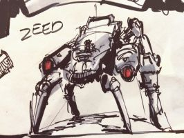 Mech Sketch by zeedurrani