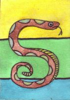 S is for Snake ATC by mintdawn