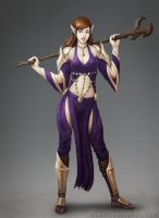 Elf Mage Concept Art by oneillustrates
