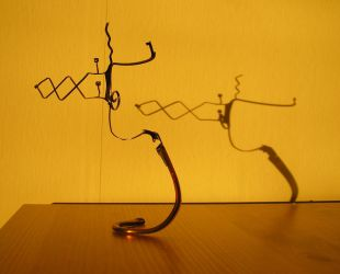 Eyeglass Frame Sculpture 3 by Maluviam