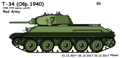 T-34 model 1940 (May 40', 183) by P0landWW2