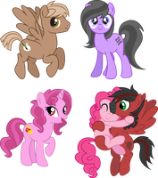 MLP friends OCs by DisfiguredStick