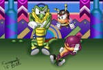 Chaotix: Chilling at Carnival Island by sergeant16bit