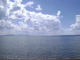 Yellowstone Lake by MidknightStarr