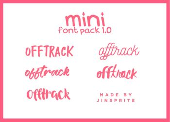 Font Pack 1.0 By Jinsprite by jinsprite