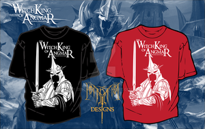 WitchKing of Angmar T-Shirt by zeusallica