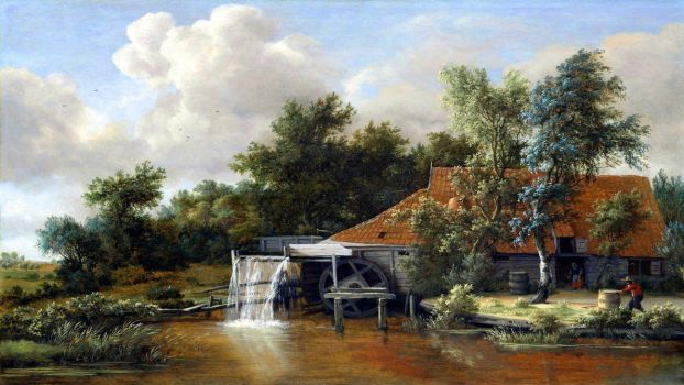 Dutch water mill by Fractallert