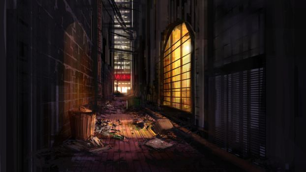 Dark-Alley by Alexlinde