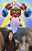 Korra and Asami Reaction at Metal Franky by magmon47
