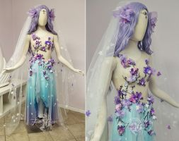 Plum Blossom Bridal Gown by Firefly-Path