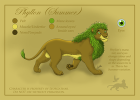 Adult Phyllon (Ref. Sheet) by Leorgathar