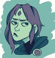 color pallet Q: Raven from Teen Titans by pastelsl0th