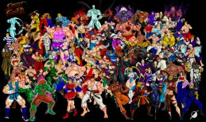 Street Fighter All Characters Updated by Osmar-Shotgun