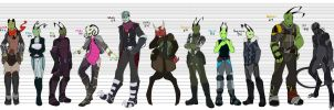 Character Line Up by Octeapi