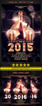 New Year 2015 Event PSD File by EmDesignEmd