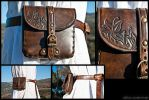 Small Dark Brown Belt Purse by Adhras