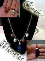 Cookie Monster Necklace by AshiviAlpha