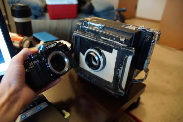Upgraded Large Format To 35mm Adapter by rioross