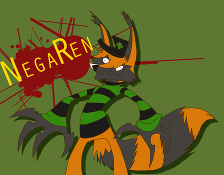 NegaRen derp by Wolf-Shadow77