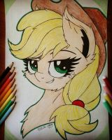 AppleJack. Portrait  by Kindny-Chan