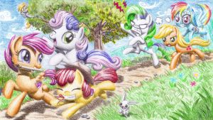 My Little Prank Trio by Micheato-nikoniko
