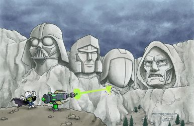 The Mt. Rushmore of Evil by SethWolfshorndl