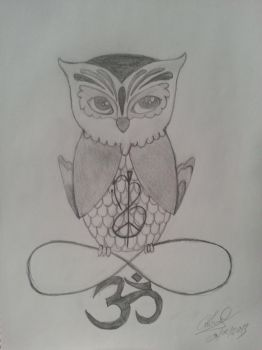 Owl tattoo design by CristinaSpain94