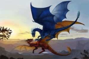 Dragons Commission by x-Celebril-x