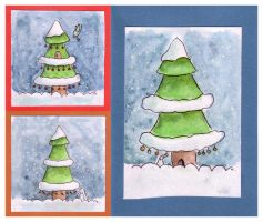 Christmas card set 1 by BlackCloudConnected