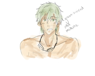 Green haired by Xarou