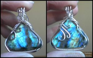 Electric Blue Labradorite 111 by Zorias
