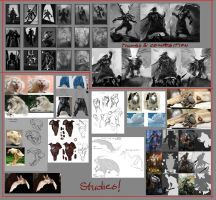 Beastmaster - thumbs, compositions and studies by Luka87