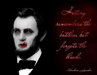 Abraham Lincoln vampire by Shadow-of-Nemo