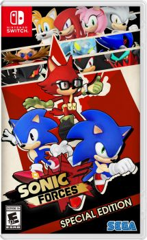 Nibroc's Sonic Forces Boxart Switch Version by Nibroc-Rock