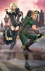 Black Canary and Green Arrow Steampunk Colors by nahp75