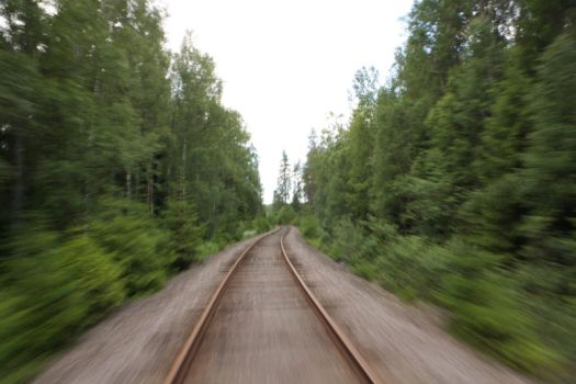 Cycling on a Train Track by lars-bath