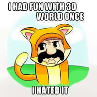 Super Grumpy Cat 3d world by thegamingdrawer
