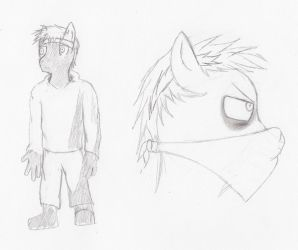 Humen furry pony thing by KyleScott