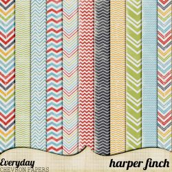 Everyday Chevron Papers by Harper Finch by harperfinch