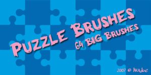 Puzzle Brush Set by nadueLICIOUS