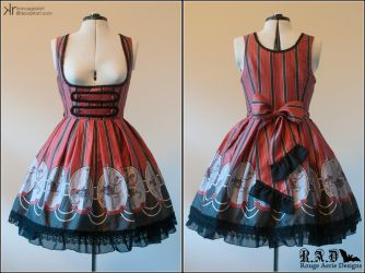 Carouskel Underbust JSK - Black Colourway by ironcageskirt
