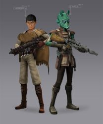 Kitster and Wald: Bounty Hunters (Rebels Fan-Art) by Brian-Snook