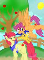 Scootabloom Family by FreeFraQ