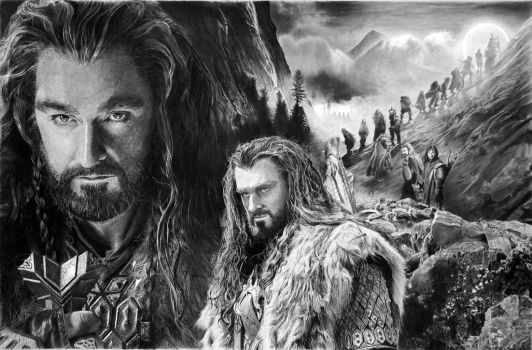 Thorin Oakenshield by francoclun